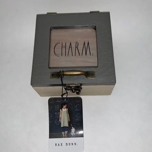 New with tags Rae Dunn Charm wooden box
